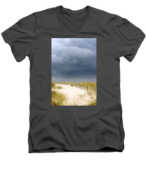 Men's V-Neck T-Shirt featuring the photograph Around The Bend by Dana DiPasquale