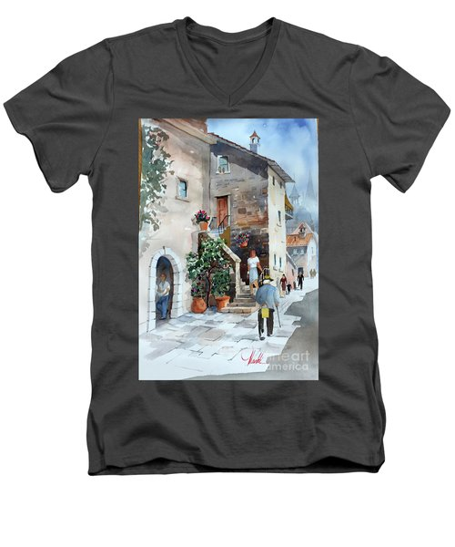 Arrezo-3 Men's V-Neck T-Shirt