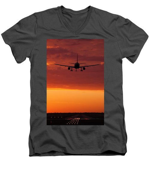Arriving At Day's End Men's V-Neck T-Shirt by Andrew Soundarajan