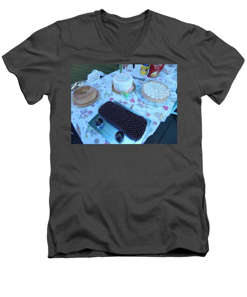 Men's V-Neck T-Shirt featuring the photograph Art And Food by Beto Machado
