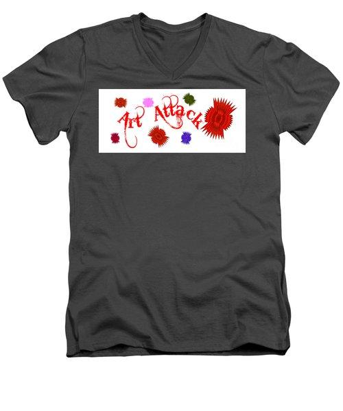 Art Attack  Men's V-Neck T-Shirt