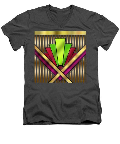 Art Deco 13 Transparent Men's V-Neck T-Shirt