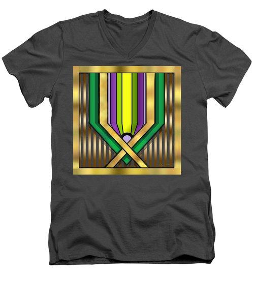 Art Deco 14 A Transparent Men's V-Neck T-Shirt by Chuck Staley