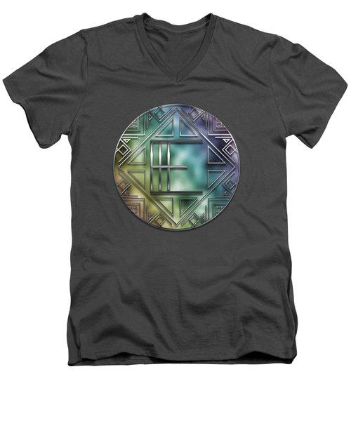 Art Deco - E Men's V-Neck T-Shirt