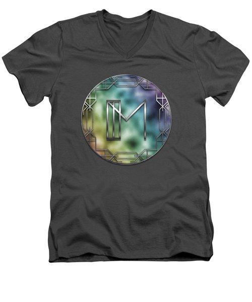 Art Deco - M Men's V-Neck T-Shirt