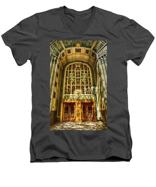 Art Deco Marine Building Men's V-Neck T-Shirt