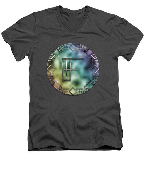 Art Deco Monogram - F Men's V-Neck T-Shirt