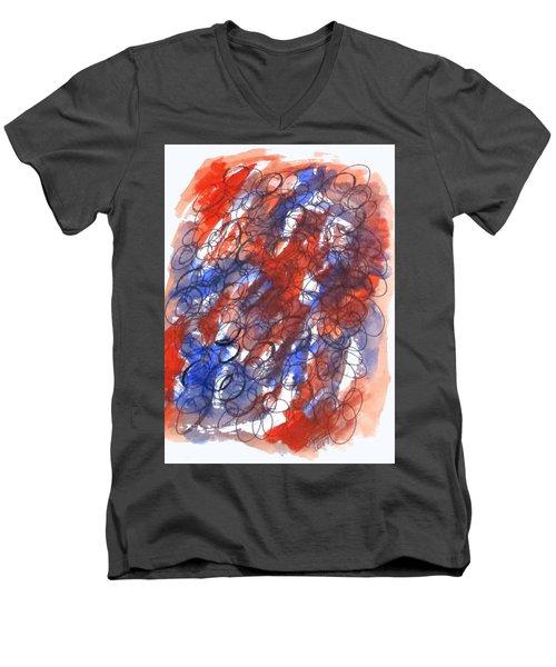 Art Doodle No. 28 Men's V-Neck T-Shirt