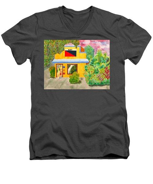 Art Gallery Men's V-Neck T-Shirt