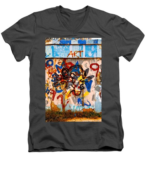 Men's V-Neck T-Shirt featuring the photograph ART by Harry Spitz