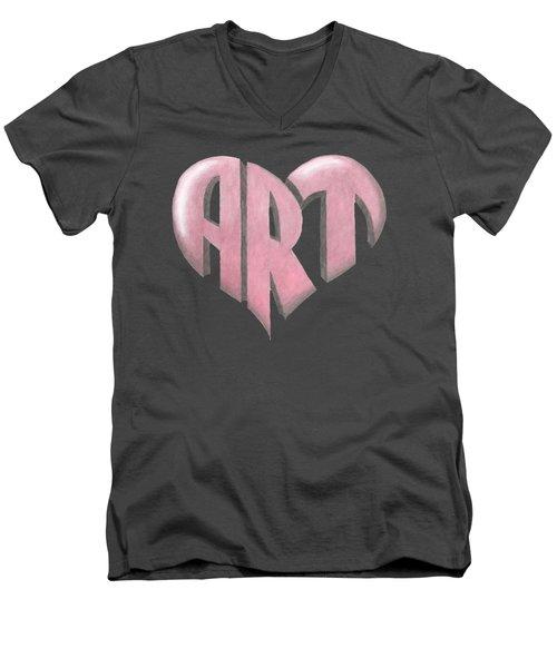 Art Heart Men's V-Neck T-Shirt