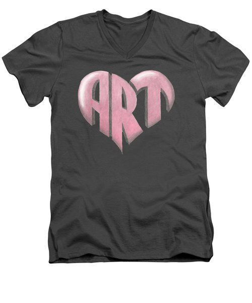 Art Heart Men's V-Neck T-Shirt