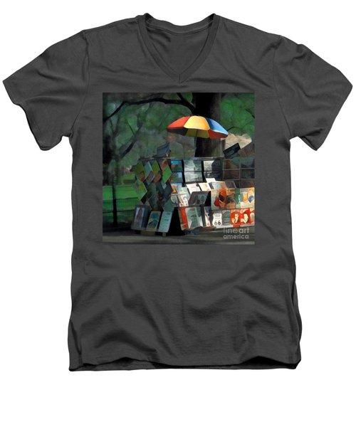 Art In The Park - Central Park New York Men's V-Neck T-Shirt by Miriam Danar