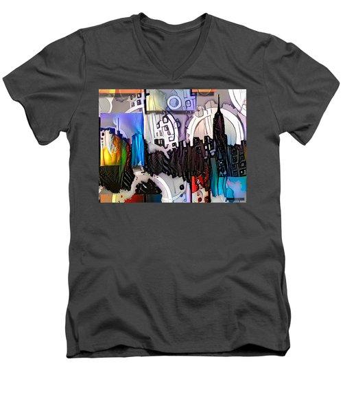 Art Manhattan Men's V-Neck T-Shirt