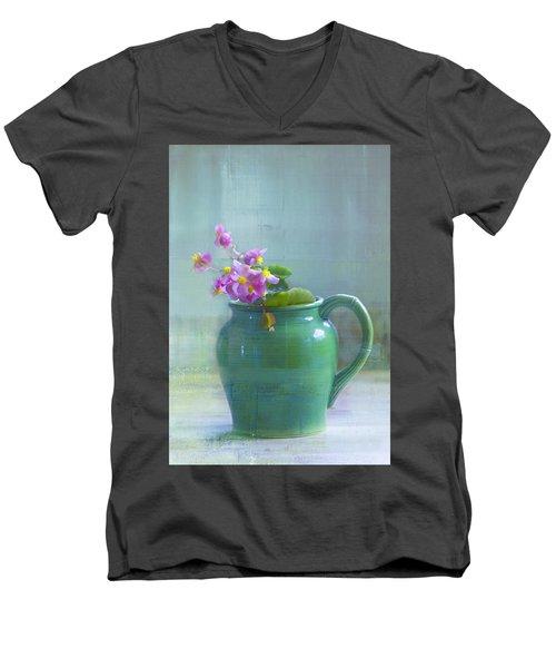 Art Of Begonia Men's V-Neck T-Shirt