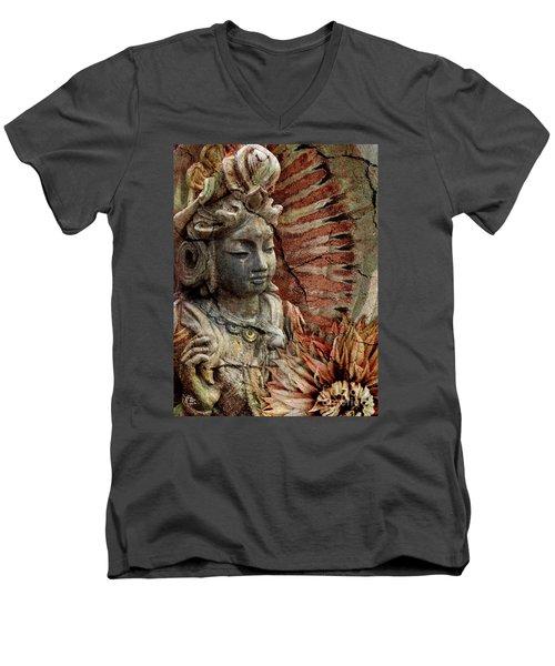 Art Of Memory Men's V-Neck T-Shirt by Christopher Beikmann
