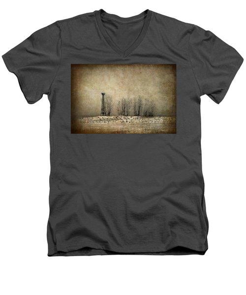 Art On The Beach Men's V-Neck T-Shirt