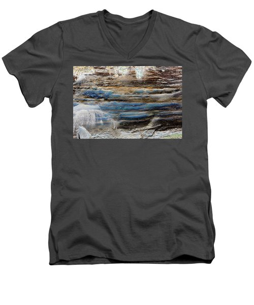 Art Print Cliff 1 Men's V-Neck T-Shirt