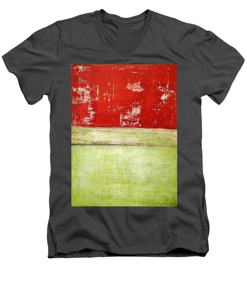Art Print Rotgelb Men's V-Neck T-Shirt