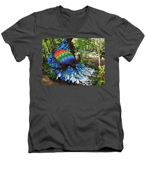 Art With Recycling - Turtle Men's V-Neck T-Shirt by Exploramum Exploramum