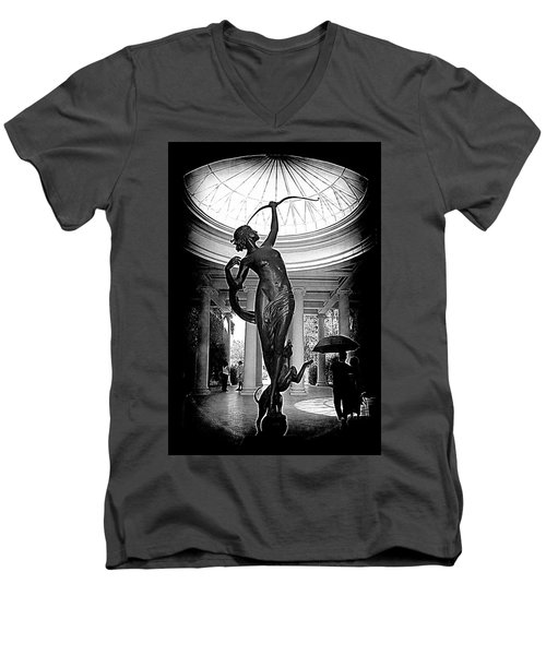 Men's V-Neck T-Shirt featuring the photograph Artemis At Huntington Library by Lori Seaman