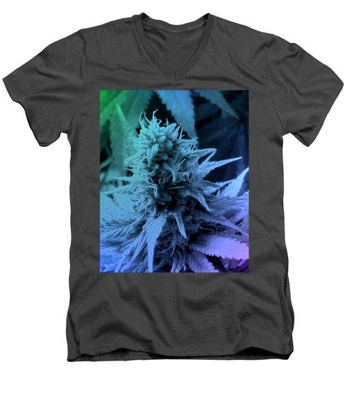 Artful Oasis Macro Abstract 112216.5 Men's V-Neck T-Shirt