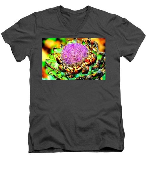 Artichoke Going To Seed  Men's V-Neck T-Shirt