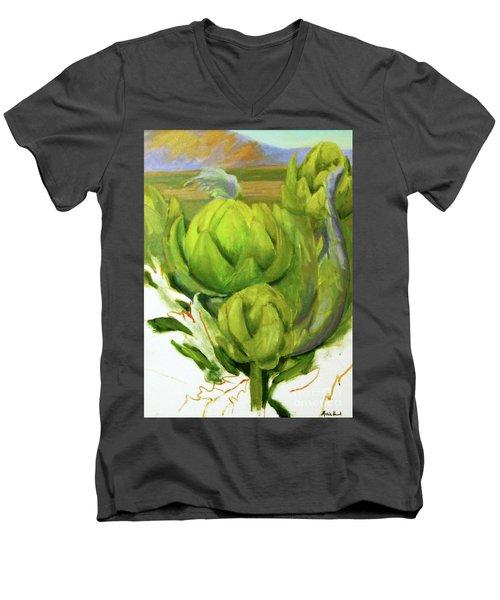 Artichoke  Unfinished Men's V-Neck T-Shirt