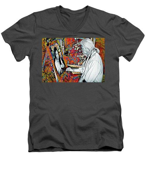 Artist In Abstract Men's V-Neck T-Shirt