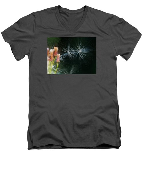 Men's V-Neck T-Shirt featuring the photograph Artistic  Air Dance by Leif Sohlman