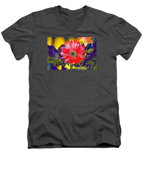 Artistic Bloom - Pla227 Men's V-Neck T-Shirt