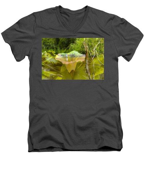 Artistic Double Men's V-Neck T-Shirt