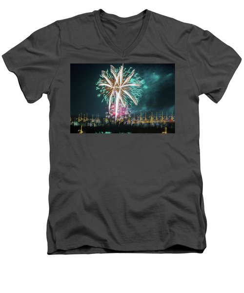Artistic Fireworks Men's V-Neck T-Shirt