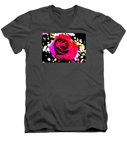 Artistic Rose - 9161 Men's V-Neck T-Shirt by G L Sarti