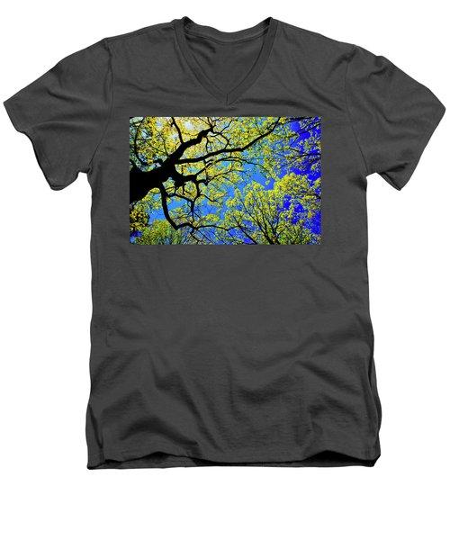 Artsy Tree Canopy Series, Early Spring - # 01 Men's V-Neck T-Shirt