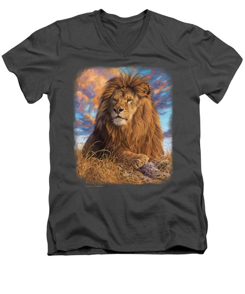 Watchful Eyes Men's V-Neck T-Shirt by Lucie Bilodeau