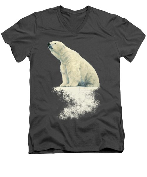 Something In The Air Men's V-Neck T-Shirt by Lucie Bilodeau