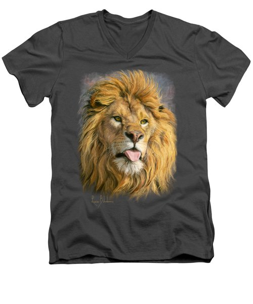 Silly Face Men's V-Neck T-Shirt by Lucie Bilodeau