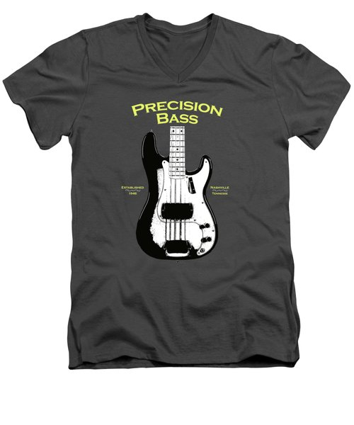 Fender Precision Bass 58 Men's V-Neck T-Shirt by Mark Rogan