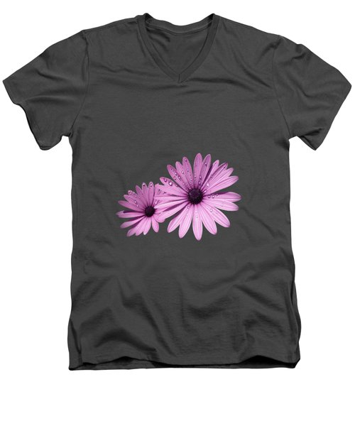 Dew Drops On Daisies Men's V-Neck T-Shirt