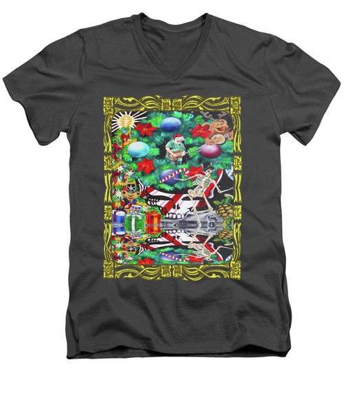 Christmas On The Moon Men's V-Neck T-Shirt