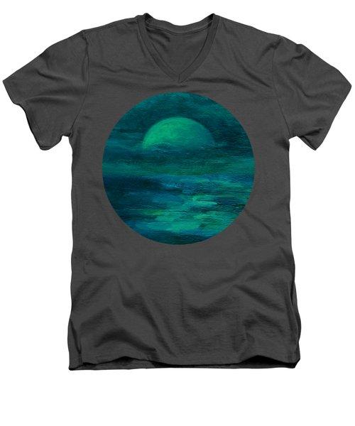 Moonlight On The Water Men's V-Neck T-Shirt