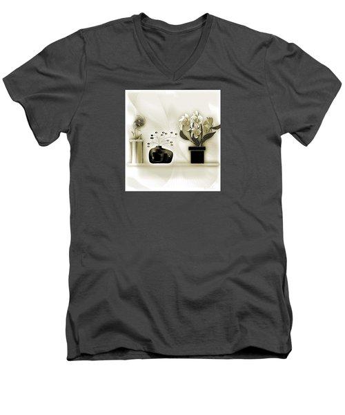 Vase 3 Men's V-Neck T-Shirt by Iris Gelbart