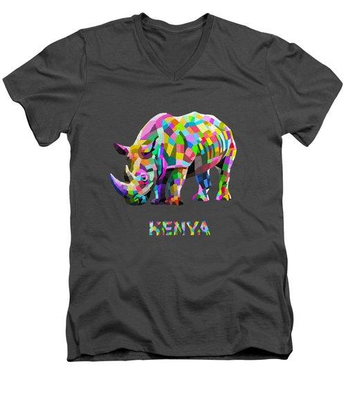 Wild Rainbow Men's V-Neck T-Shirt by Anthony Mwangi