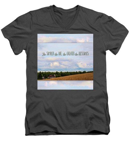 The Simpler Life Men's V-Neck T-Shirt