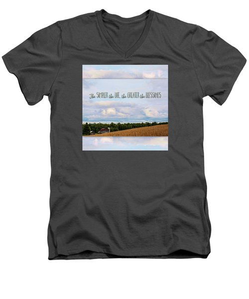The Simpler Life Men's V-Neck T-Shirt