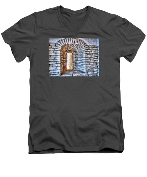 Yury Bashkin Old Window Men's V-Neck T-Shirt