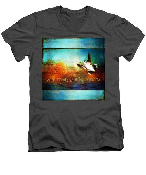 She Built Her Wings Men's V-Neck T-Shirt