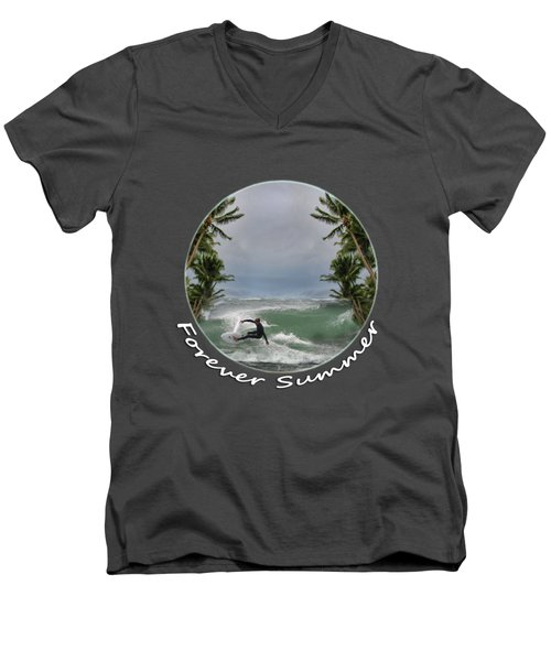 Men's V-Neck T-Shirt featuring the photograph Forever Summer 2 by Linda Lees