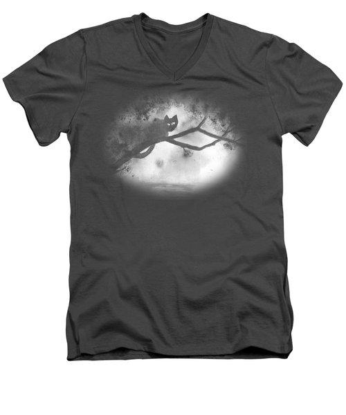 Chat Dans L'arbre Men's V-Neck T-Shirt